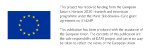 This project has received funding from the European Union's Horizon 2020 research and innovation programme under the Marie Sklodowska-Curie grant agreement no 814249. This publication has been produced with the assistance of the European Union. The contents of this publication are the sole responsibility of DARE project and can in no way be taken to reflect the views of the European Union